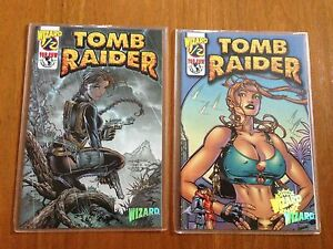 Tomb-Raider-1-2-Wizard-mail-away-issues-set-of-both-variant-covers-July-2000