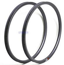 27.5er 28H MTB Carbon Clincher Rim 35 wide UD Matt Tubeless Mountain Wheel 650B