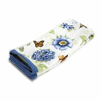 Lenox Printed Hand Towel, Blue Floral Garden, New, Free Shipping