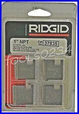 1 12r Npt 11 12 Tpi Pipe Threading Dies Set Of 4 Usa Ridgid 37835