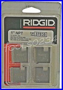 "Ridgid 37835 Pipe Threading Dies 1"" 12R NPT 11-1/2"" TPI Set of 4 USA MADE"