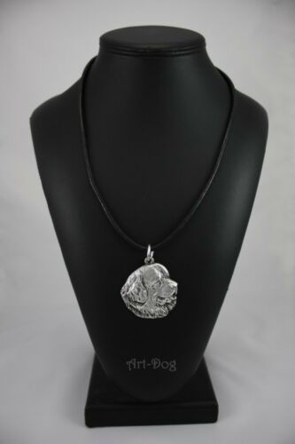 silver covered necklace high qauality Art Dog Newfoundland