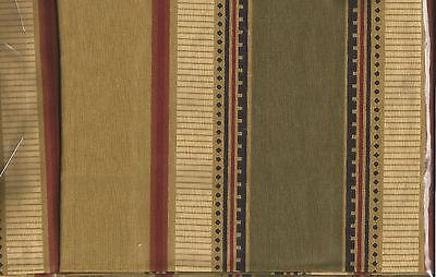 queen C/&F KINGSTON STRIPE BLACK OLIVE GOLD BRICK RED BEDSKIRT DUST RUFFLE king
