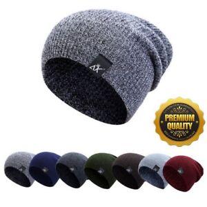 Women Men Camping Hat Winter Beanie Baggy Warm Wool Ski Cap Fleece Line