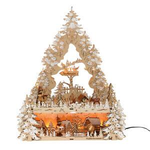 Weihnachtsbeleuchtung Dekoration Schwibbogen Lichterbogen LED 52 1259