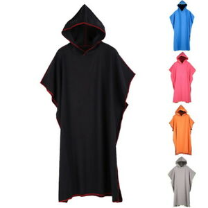 Adult-Mens-Changing-Robe-Towel-Bath-Hooded-Beach-Towel-Poncho-Bathrobe-Towel-UK