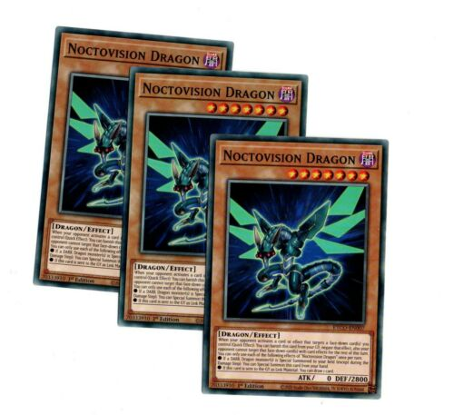 ETCO-EN007 NOCTOVISION Dragon x 3 carte Playset-Commune 1st édition