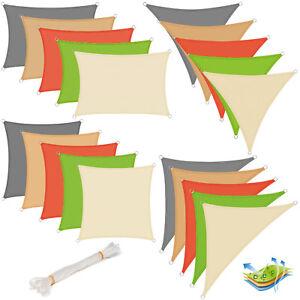 Sonnensegel-Sonnenschutz-Windschutz-Sonnendach-UV-Schutz-Polyester-HDPE-607