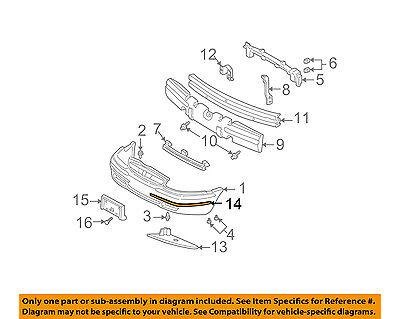 Genuine GM Parts 10348920 Rear Bumper Impact Strip Genuine General Motors Parts