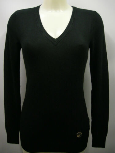 s Ferre T Scollo Black Italy Maglia 5f845 Nero Sweater Woman V Gf Donna C 900 AgxfF