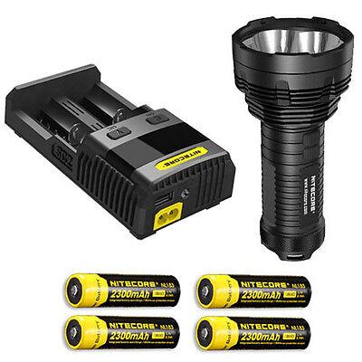 Bundle NITECORE TM16GT lampe de poche CREE XP-L Hi V3 DEL avec 4x NL189 /& I4 Chargeur