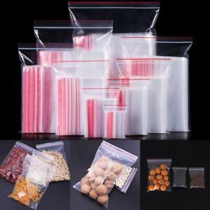 Mini Zipper PE Pouch Packaging Ziplock Bag Plastic Poly Clear Jewelry Zip Bags