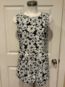 Aryeh-Black-amp-White-Floral-Sleeveless-Romper-Size-Medium-NWT
