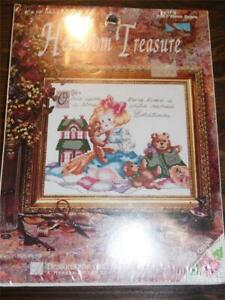"HEIRLOOM TREASURE Counted Cross Stitch Kit - THREE BEARS - 8"" x 10"""
