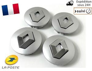 4x-Cache-Moyeu-Jante-Centre-Roue-Enjoliveur-Logo-insigne-Renault-60mm-Neuf