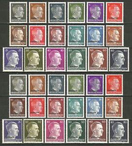DR-Nazi-3rd-Reich-Rare-WWII-Stamp-Hitler-Head-Overprint-UKRAINE-OSTLAND-Service