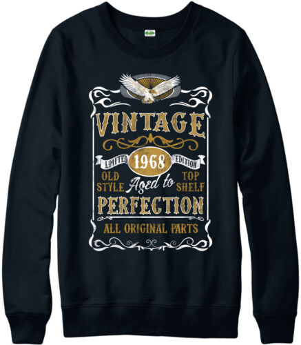 Personalised Made in 1968 Vintage Jumper Born 1968 Birthday Age Year Gift Top