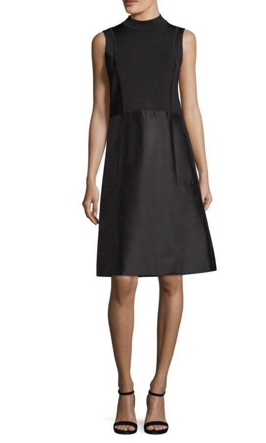 NWT Lafayette 148 ny York Indra Knit -Top A -Line Dress.Storlek L. Detaljhandel  598.