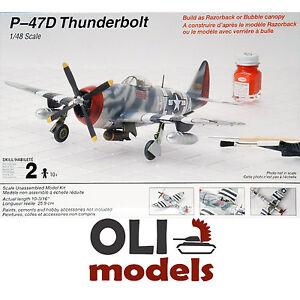 Image is loading 1-48-Republic-P-47D-THUNDERBOLT-Razorback-Bubble-  sc 1 st  eBay & 1/48 Republic P-47D THUNDERBOLT Razorback/Bubble canopy - Testors ...