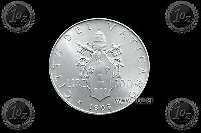 VATICAN 500 LIRE 1999 LATERAN TREATY SILVER Commemorative Coin KM# 322 UNC