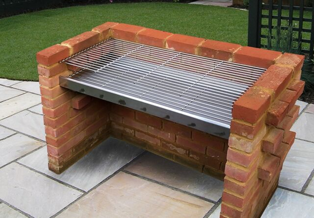 Extra Large Stainless Steel DIY Brick Charcoal BBQ Kit 112cm x 40cm - SS103DXL-R
