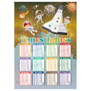 Times-Tables-Poster-Maths-Wall-Chart-Multiplications-Educational-Space-Theme