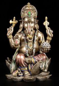 GANESH-personnage-sur-Lotus-trone-veronese-statue-Bouddha-hinhu-deesse-indienne-Dieu