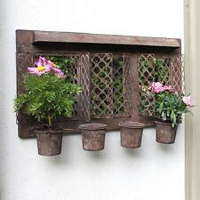 Metallo Rustico per esterni parete con specchio da Giardino Fioriera Shabby Vintage VASO CASA