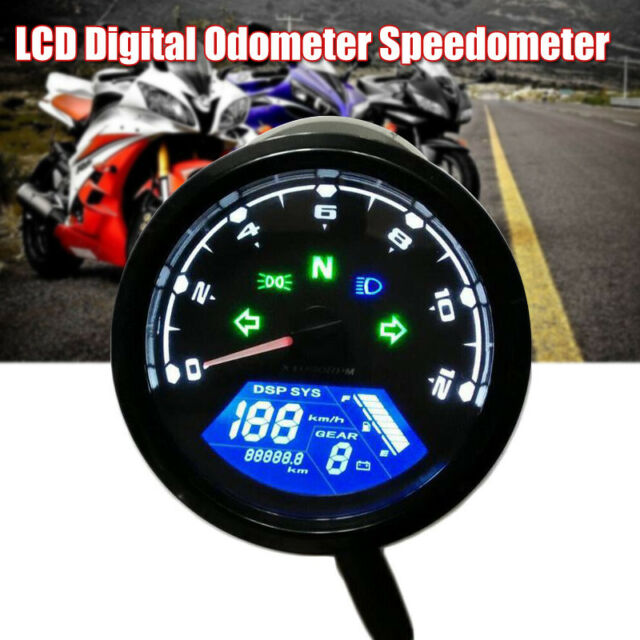 12000rpm Dc 12v Universal Lcd Digital For Motorcycle