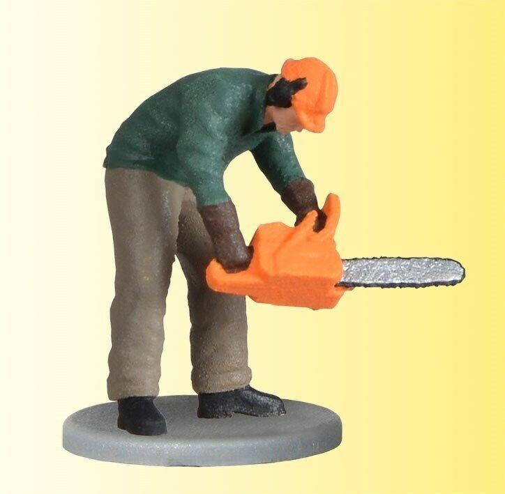 Viessmann 1548 H0 Lavoratori Del Bosco con Motosega,Si Muove # Nuovo in Scatola