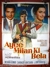 Ayee Milan Ki Bela {Rajendar Kuma} Hindi Bollywood Original Movie Poster 60s