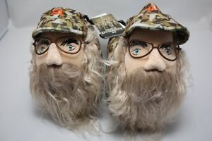 DUCK-DYNASTY-UNCLE-SI-ROBERTSON-CAMO-YOUTH-PLUSH-SLIPPERS-BEARD-A-amp-E-NEW-S-M-L