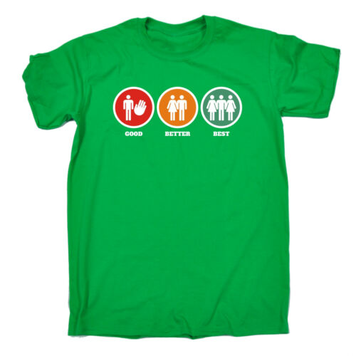 GOOD Better Best T-shirt humor ADDIO al CELIBATO Bucks Trio Divertente Regalo Di Compleanno