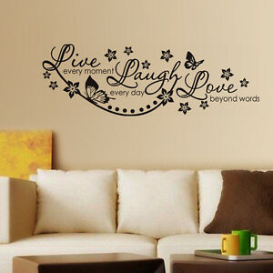 6415 | Wall Stickers Live Laugh and Love Wall Quote Family