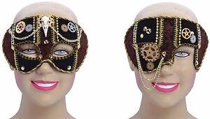 Herren-Damen-Steampunk-West-Maskerade-Augenmaske-Kostuem-Kleid-Outfit