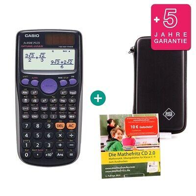 Casio FX 85 DE Plus Taschenrechner Schutztasche und GeometrieSet