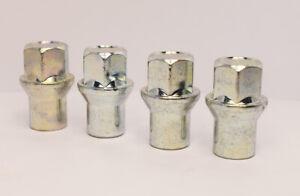 Set Mit 16 X M12 X 1.25 Silber 19mm Sechskant Alufelgen Radmuttern 6mm Schaft
