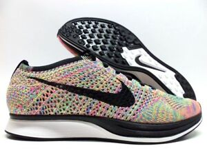 newest collection f89c6 0f65c Image is loading NIKE-FLYKNIT-RACER-DARK-GREY-BLACK-BLUE-GLOW-