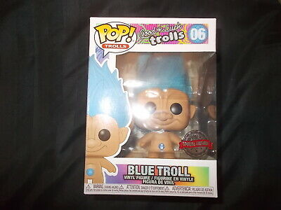 Action Figure Funko Pop Vinyl Blue Real Hair Troll #06 Special Edition Exclusive