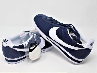 the latest 983d7 a1286 Nike Classic Cortez Nylon Obsidian White 807472-410 Sizes 8-13