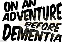 ADVENTURE BEFORE DEMENTIA Car-Window Jdm vw dub euro vinyl sticker decal