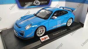 1-18-Maisto-escala-Diecast-Modelo-Coche-Porsche-911-GT3-RS-4-0-en-Azul