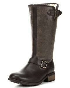 5cd7b9533b8 Details about UGG Australia Chancery Boots Stout Brown Textured Leather  Boot US Size 5 M $295