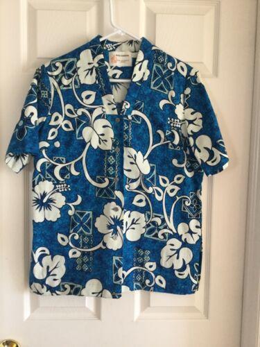 Women's VNTG Hawaiian Shirt Royal Hawaiian Tea Tim