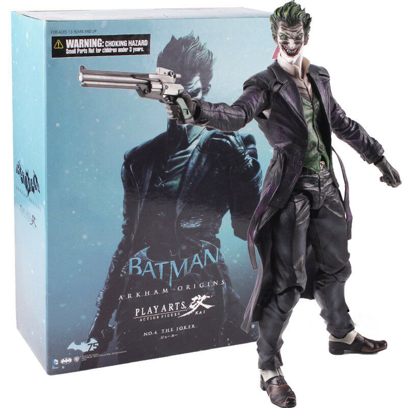 Play Arts Kai Batman Arkham Origins The Joker Action Figure Model Toy