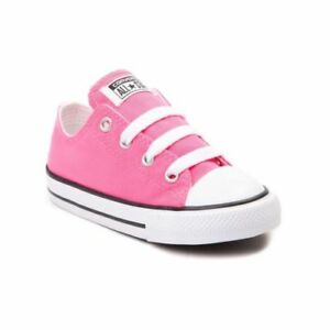 Converse-All-Star-Low-Chucks-Infant-Toddler-Pink-Canvas-Shoe-7J238-Free-Shipping