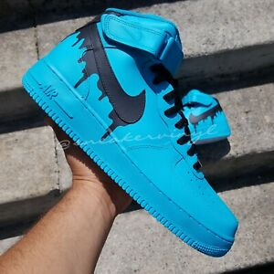 NIKE Air Force 1 MID Top Blue Turquoise