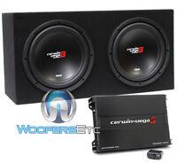 Cerwin Vega Bkx212s 3000w Car 12 Subwoofers Speakers + Box + Bass Amplifier