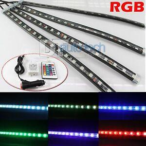 4 x 12 rgb multi color led truck car interior lighting bar remote ebay. Black Bedroom Furniture Sets. Home Design Ideas