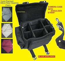 LARGE CAMERA BAG CASE +3cloth to> Canon REBEL EOS 6D 60D 40D 70D X6i X5 T6I T6